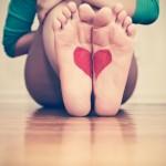 pies de corazon
