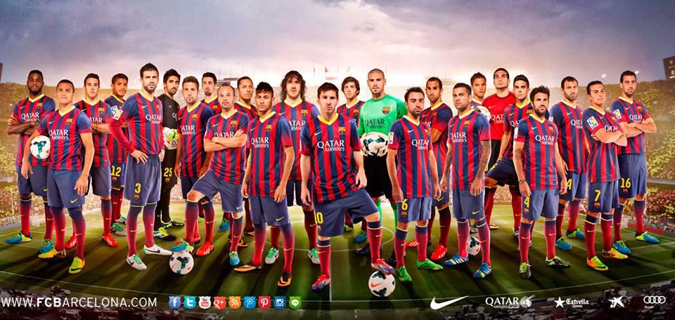 Felicitación De Año Nuevo 2014 Del Fc Barcelona Pepitu